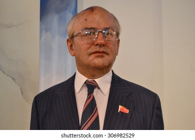 NEW YORK - CIRCA 2011: Mikhail Gorbachev wax figure in Madame Tussaud's museum in New York