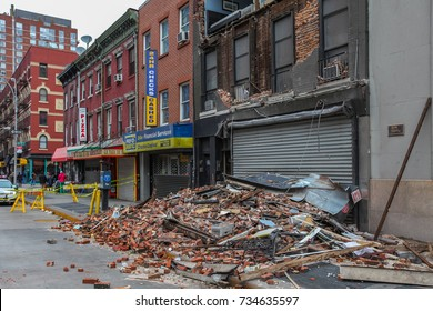 New York - CIRCA 2012: Consequences of Sandy the hurricane. Superstorm Sandy was the most destructive hurricane of the 2012 Atlantic hurricane season.