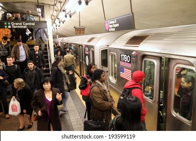 NEW YORK - CIRCA 2014:  New York's subway system is being expanded with a new line under Second Avenue.  It already has the most stations in the world, with 468.