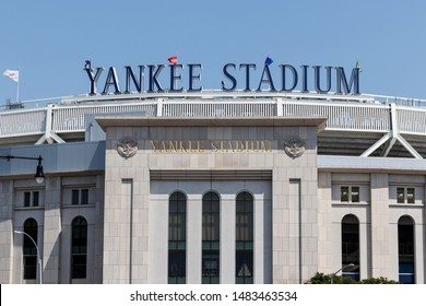 New York - Circa August 2019: Yankee Stadium exterior and facade. The new Yankee Stadium was completed in 2009 II