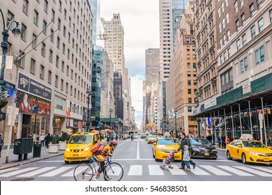 NEW YORK - CIRCA DECEMBER, 2016: New York City at daytime. New York is the most populous city in the United States.