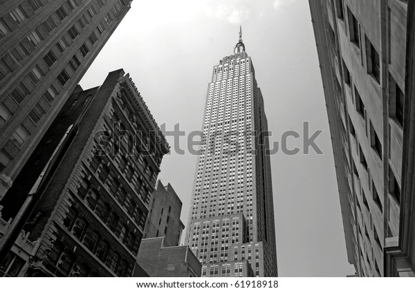 NEW YORK - CIRCA JULY 2009: The Empire State Building circa July 2009 in New York City, USA. After the terrorist attack on 9/11/01, this is the tallest building in New York and 3rd in USA.
