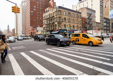 NEW YORK - CIRCA MARCH, 2016: New York City at daytime. New York is the most populous city in the United States.