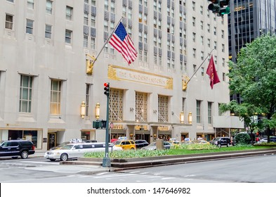 NEW YORK - CIRCA MAY 2013 : The Waldorf-Astoria Hotel, New York, circa May 2013. Dating 1931, it was the first hotel to offer room service, making a huge impact for the future of the hotel industry