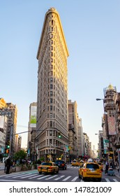 NEW YORK - CIRCA MAY 2013: The Flatiron Building, New York, circa May 2013. The Flatiron building is considered to be one of the first skyscrapers ever built. It was completed in 1902