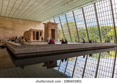 NEW YORK - CIRCA OCTOBER 2016: The Egyptian Temple of Dendur at the Metropolitan Museum of Art (MET), New York City, USA