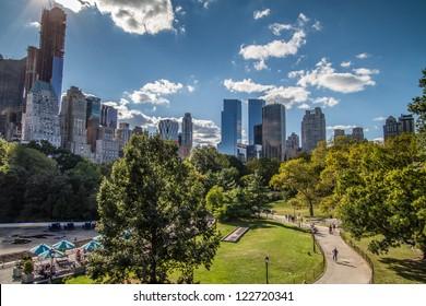 NEW YORK - CIRCA SEPTEMBER 2012: Central Park circa September 2012 in New York City. Central Park is a public park at the center of Manhattan in New York City.