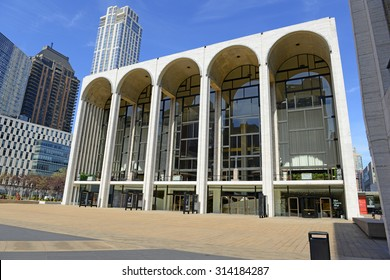 NEW YORK - CIRCA SEPTEMBER 2015. Lincoln Center, tourist attraction and venue which is world renowned as a leader in the performing arts, hosting many of the best artists at its events.