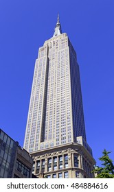 NEW YORK CIRCA SEPTEMBER 2016. While no longer the tallest building in Manhattan, The Empire State Building still stands as an iconic landmark in New York City for locals and visitors alike.