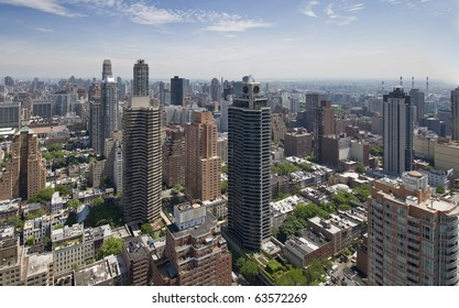 new york cite, manhattan , view of uper east side