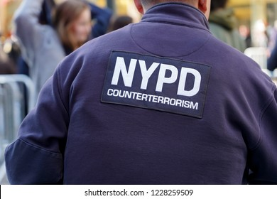 New York City, New York - 11 November, 2018 : NYPD counterterrorism in New York City Veterans Day Parade. It's the largest celebration of service in the nation.