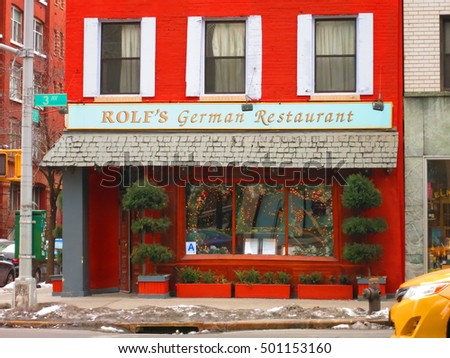 new york city 2 february 2015 rolfs german restaurant on 3rd avenue in manhattan