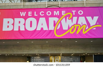 NEW YORK CITY -27 JAN 2018- The BroadwayCon convention for musical theater fans takes place every January at the Jacob K. Javits Convention Center in New York City.
