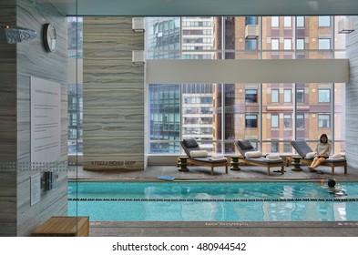 NEW YORK CITY -4 SEPTEMBER 2016- Opened in 2014, the Park Hyatt New York is a modern luxury hotel located in midtown Manhattan on 57th Street opposite Carnegie Hall.