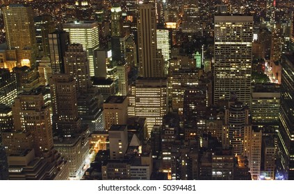 New York City from above at night