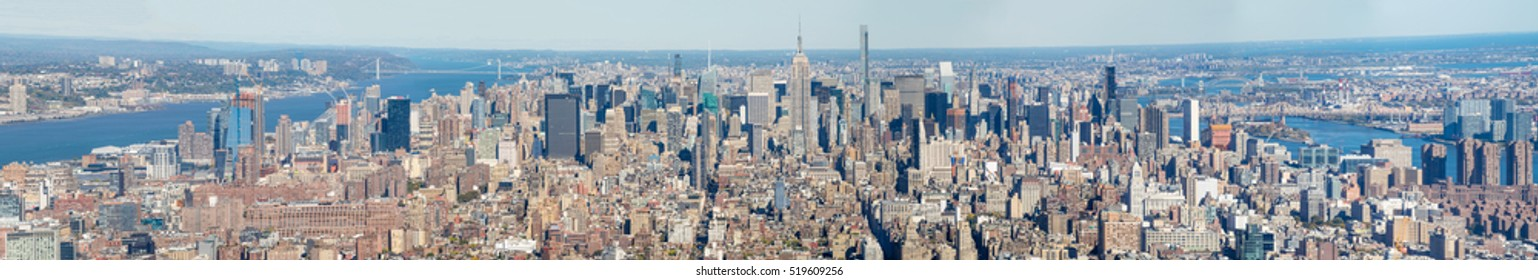 New York City - Aerial view of Manhattan skyline.