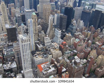 New York City with all its buildings and businesses