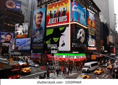 NEW YORK CITY - APRIL 14: Times Square is a symbol of New York City and the United States, April 14, 2011 in Manhattan, New York City. USA.