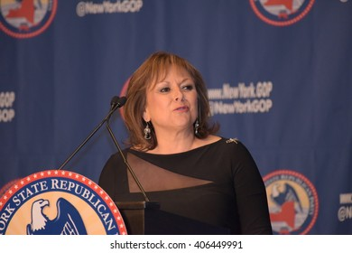 NEW YORK CITY - APRIL 14 2016: The New York state Republican party held a gala in honor of New Mexico governor Susana Martinez. Governor Martinez speaks