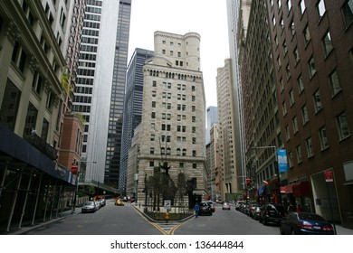 NEW YORK CITY - APRIL 19: A general exterior view of the United States Federal Reserve Bank in New York City, on Friday, April 19, 2013.