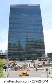 NEW YORK CITY - APRIL 30, 2015: The United Nations building in Manhattan in New York. The complex has served as the official headquarters of the United Nations since its completion in 1952