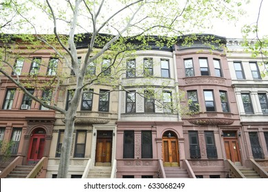 New York City - April 30, 2017: Harlem street view, New York City, USA