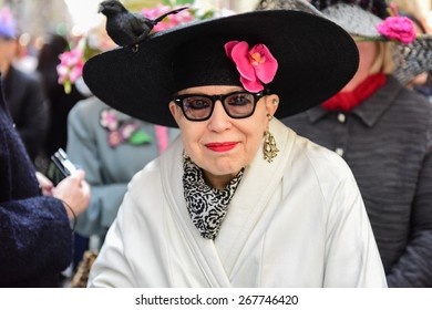 NEW YORK CITY - APRIL 5 2015: thousands of New Yorkers filled 5th Avenue marking Easter Sunday with the tradition Easter Bonnet Parade, a tradition dating from the 1870s