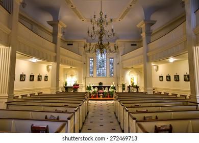 NEW YORK CITY - APRIL 5, 2015: The Shrine of Saint Elizabeth Ann Seton a New York City landmark located in lower Manhattan.