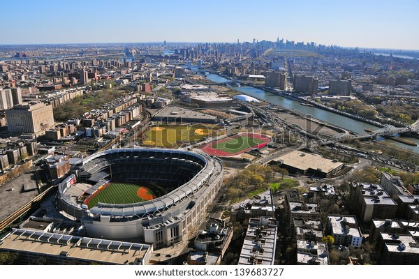 NEW YORK CITY - APRIL 6: The New Yankees Stadium on April 6th, 2012. It was achieved in 2009 and costed $ 1.5 bn. Home of the Yankees it is situated in the Bronx and can host 50000 for Baseball Games.
