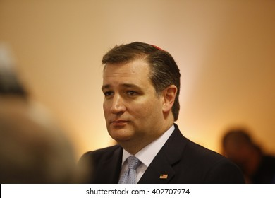 NEW YORK CITY - APRIL 7 2016: Republican presidential candidate senator Ted Cruz, TX, visited the Brighton Beach area of Brooklyn reaching out to conservative Jewish voters.