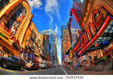 new york city aug 7 colorful stock photo edit now 703937434