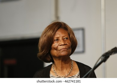 NEW YORK CITY - AUGUST 2 2016: Rev Al Sharpton held a press conference at NAN headquarters to offer reaction to NYPD commissioner Bratton's resignation. NY NAACP Hazel Dukes