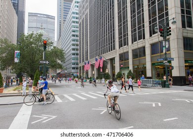 NEW YORK CITY - August 20, 2016 near Park Ave and 51th st. : Summer Streets is an annual celebration of New York City's most valuable public space.