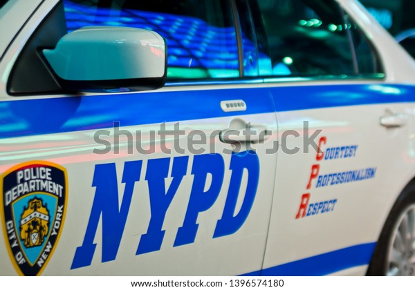 NEW YORK CITY - AUGUST, 2014: Police car of the NYPD in Manhattan, NYC, USA.