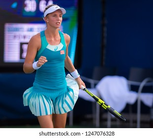 NEW YORK CITY,  - AUGUST 22 : Barbara Haas of Austria at the 2017 US Open Grand Slam tennis tournament