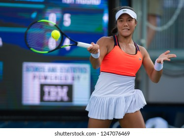 NEW YORK CITY,  - AUGUST 22 : Kristie Ahn of the United States at the 2017 US Open Grand Slam tennis tournament