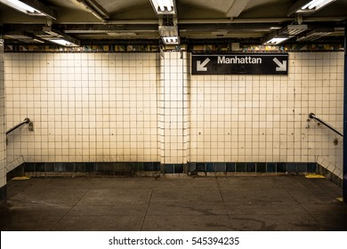 NEW YORK CITY - AUGUST 24, 2016: Image of subway structure