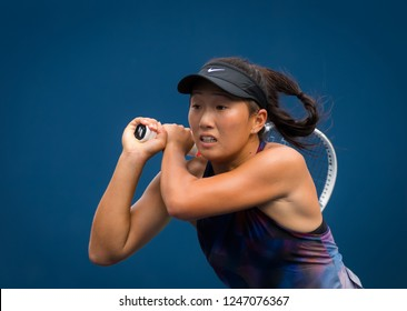 NEW YORK CITY,  - AUGUST 25 : Claire Liu of the United States at the 2017 US Open Grand Slam tennis tournament
