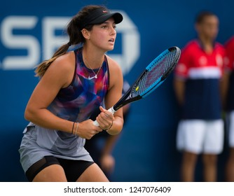 NEW YORK CITY,  - AUGUST 25 : Ipek Soylu of Turkey at the 2017 US Open Grand Slam tennis tournament