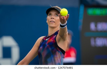 NEW YORK CITY,  - AUGUST 25 : Katie Boulter of Great Britain at the 2017 US Open Grand Slam tennis tournament
