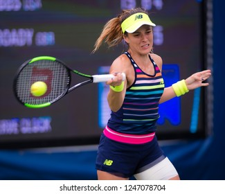 NEW YORK CITY,  - AUGUST 25 : Nicole Gibbs of the United States at the 2017 US Open Grand Slam tennis tournament