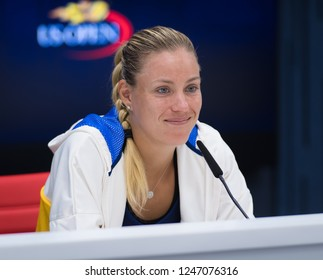 NEW YORK CITY,  - AUGUST 26 : Angelique Kerber of Germany at the 2017 US Open Grand Slam tennis tournament