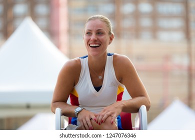 NEW YORK CITY,  - AUGUST 26 : Angelique Kerber at the 2017 US Open Grand Slam tennis tournament