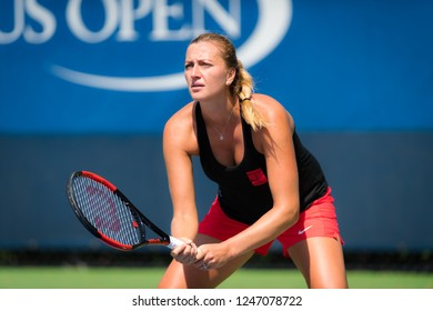 NEW YORK CITY,  - AUGUST 26 : Petra Kvitova of the Czech Republic at the 2017 US Open Grand Slam tennis tournament