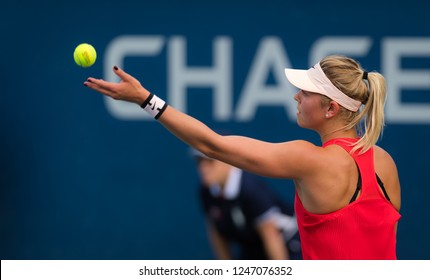 NEW YORK CITY,  - AUGUST 28 : Carina Witthoeft of Germany at the 2017 US Open Grand Slam tennis tournament
