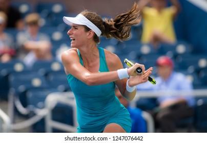 NEW YORK CITY,  - AUGUST 28 : Johanna Konta of Greta Britain at the 2017 US Open Grand Slam tennis tournament