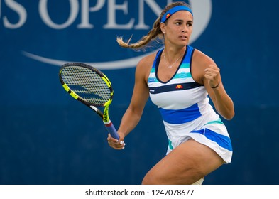 NEW YORK CITY,  - AUGUST 28 : Monica Puig of Puerto Rico at the 2017 US Open Grand Slam tennis tournament