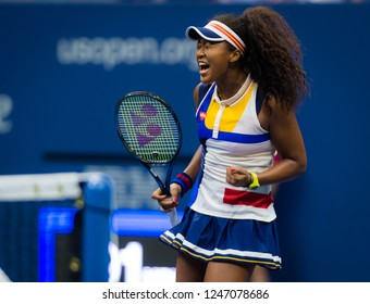 NEW YORK CITY,  - AUGUST 29 : Naomi Osaka of Japan at the 2017 US Open Grand Slam tennis tournament
