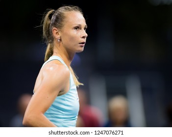 NEW YORK CITY,  - AUGUST 30 : Magdalena Rybarikova of Slovakia at the 2017 US Open Grand Slam tennis tournament