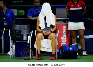 NEW YORK CITY,  - AUGUST 30 : Caroline Garcia of France at the 2017 US Open Grand Slam tennis tournament